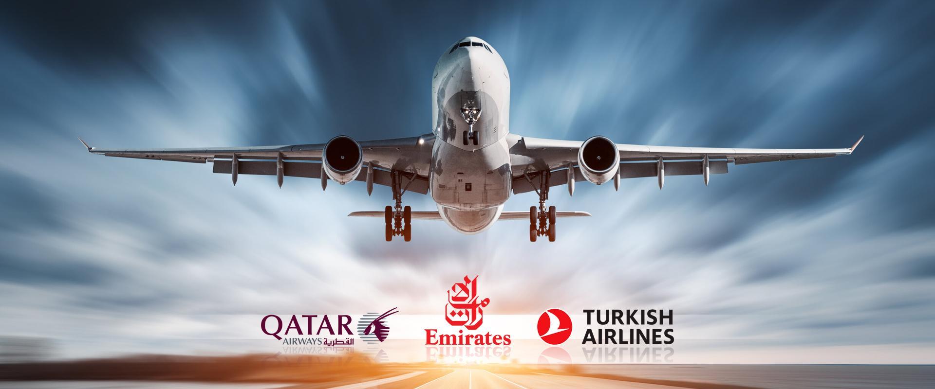 فروش هواپیمایی های قطر ایرویز ترکیش ایرلاین امارات ایرلاین